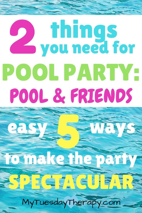 Pool parties don't have to cost a fortune. This party is easy, frugal and full of fantastic fun!