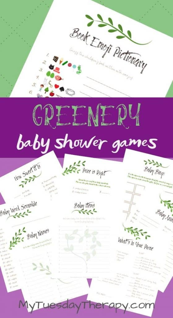Greenery Baby Shower Games