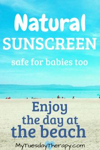 Natural Sunscreen that is safe for babies too. Fragrance free, non toxic. Enjoy the day at the beach!