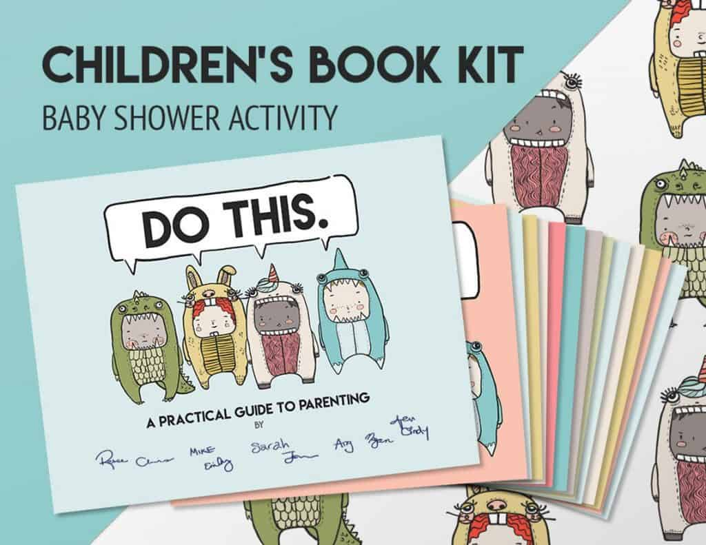 Book Kit as Baby Shower Activity (Handwritten book co)