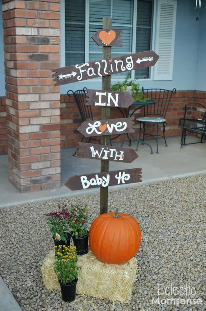 Little pumpkin baby shower signs. (image credit: Eclectic Momsense)