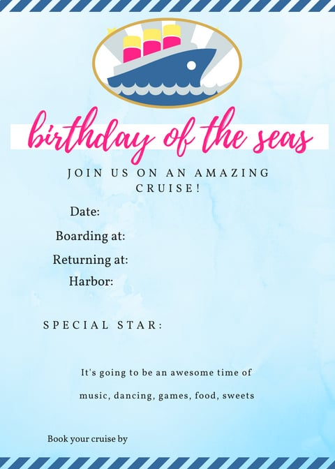 Cruise Party Invitation Idea for an amazing birthday party for tweens!