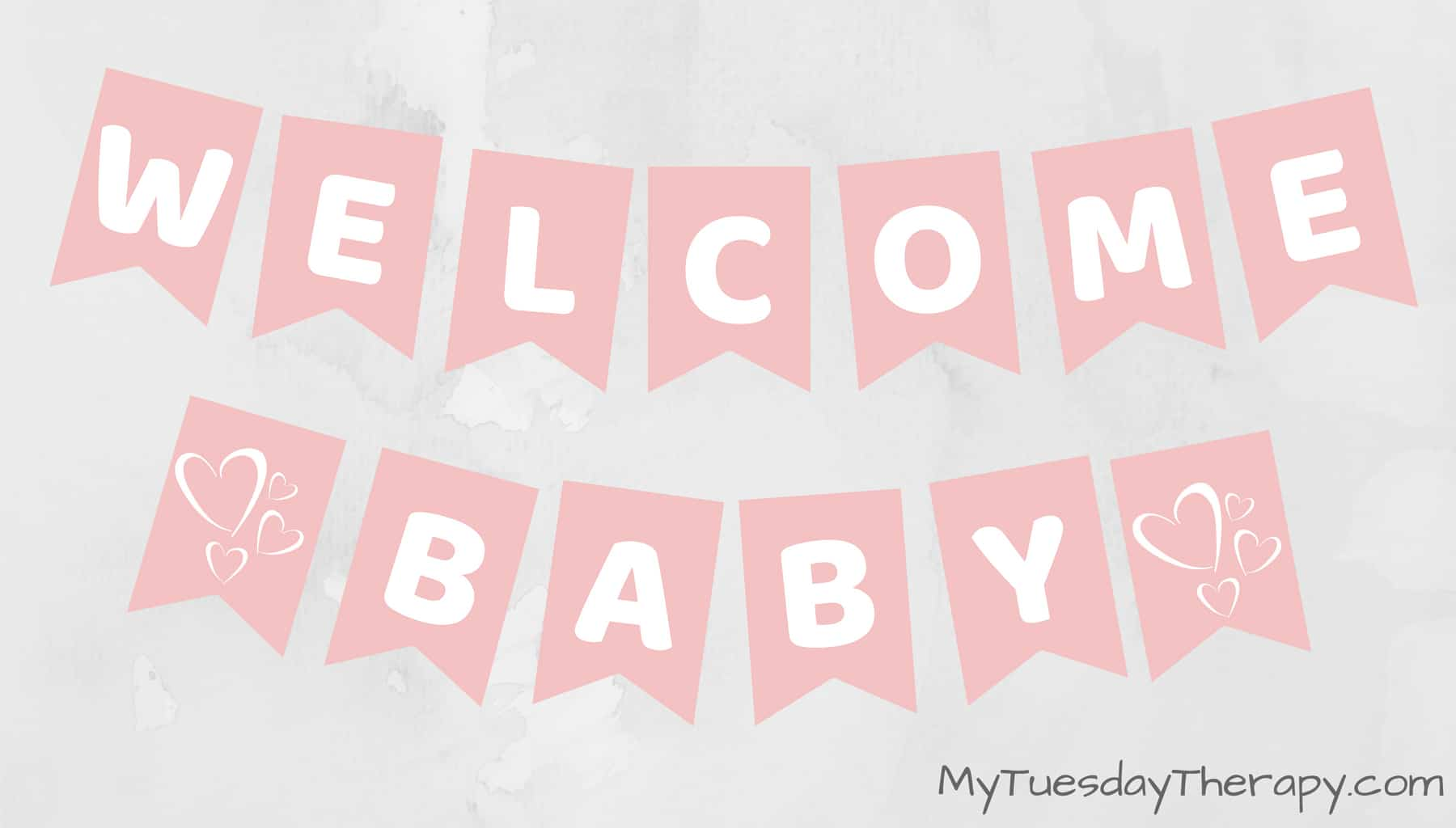 Baby Shower Banner. Cheap baby shower decoration ideas.