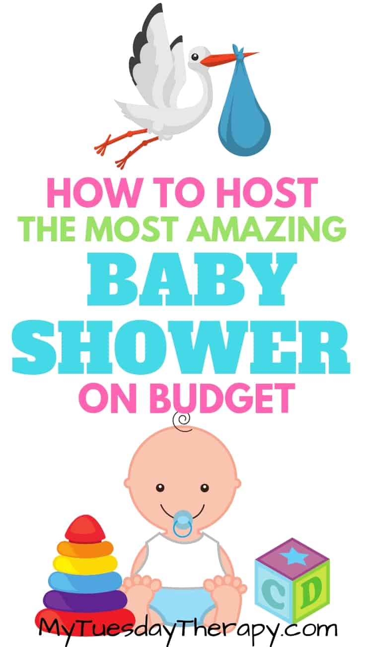 Host a beautiful baby shower on budget. Cheap baby shower ideas for games, decorations, food, favors etc.