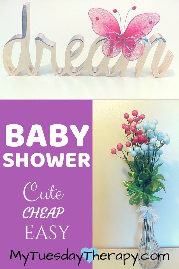 Cheap Baby Shower Decorations. You can host a beautiful baby shower in an inexpensive place on small budget. Plenty of ideas for decorations, games etc.