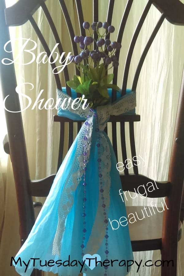 Baby Shower Mom Chair. An Easy DIY Baby Shower Chair Idea.