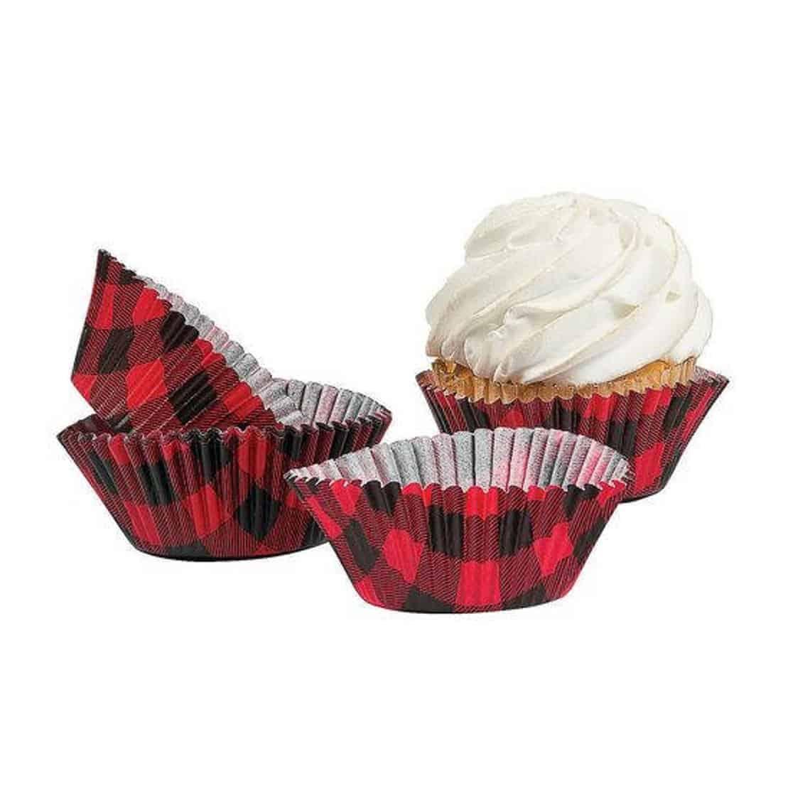 Buffalo Plaid Cupcake Liner. (mylittleshopsupplies)