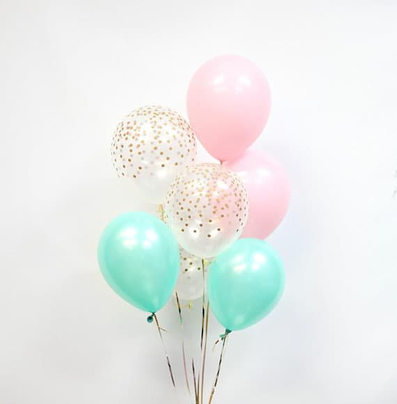 Cheap Baby Shower Decorations: Confetti Balloon From The Party Avenue