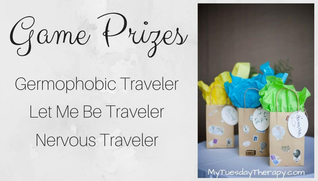 Travel Theme Baby Shower Game Prizes. Reward your game winners with these cool and hilarious prizes. These could also be used as party favors.