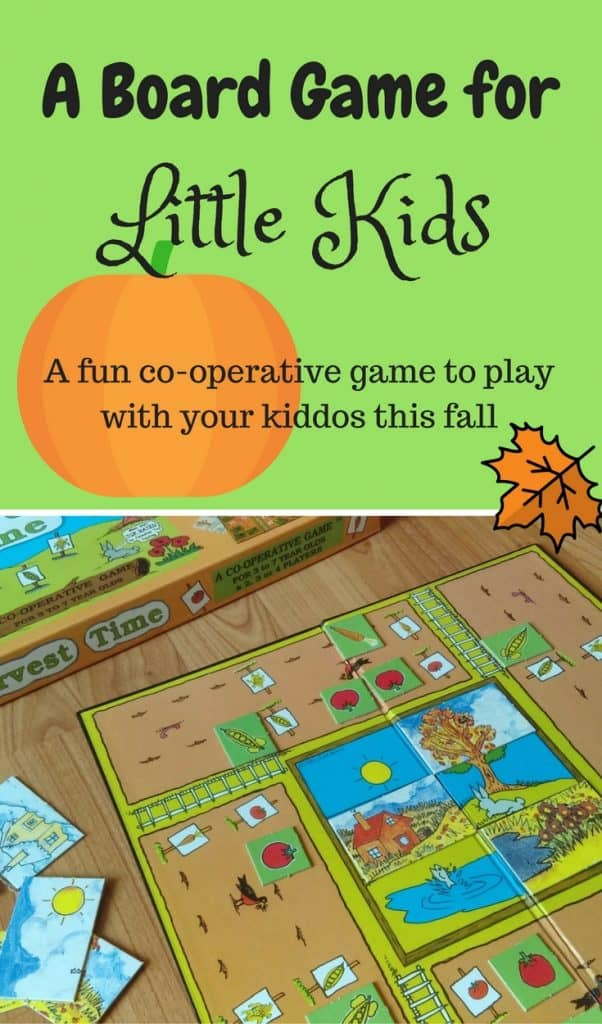 Harvest Board Game for Kids. Fall games for kids.