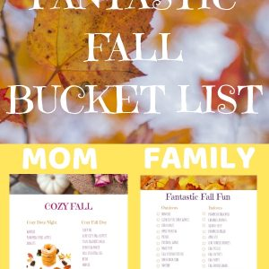 Fantastic Fall Bucket List Ideas! A special list for moms :)