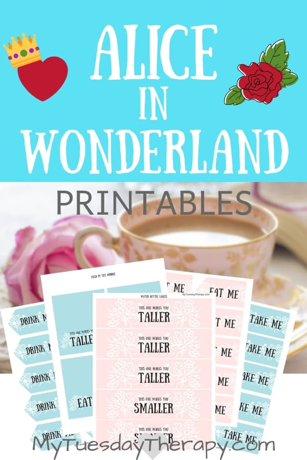 Alice In Wonderland Tea Party Printables.