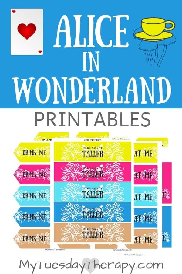 Alice In Wonderland Printables.