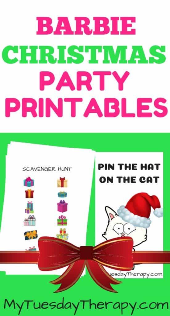 Barbie Christmas Party Printables.