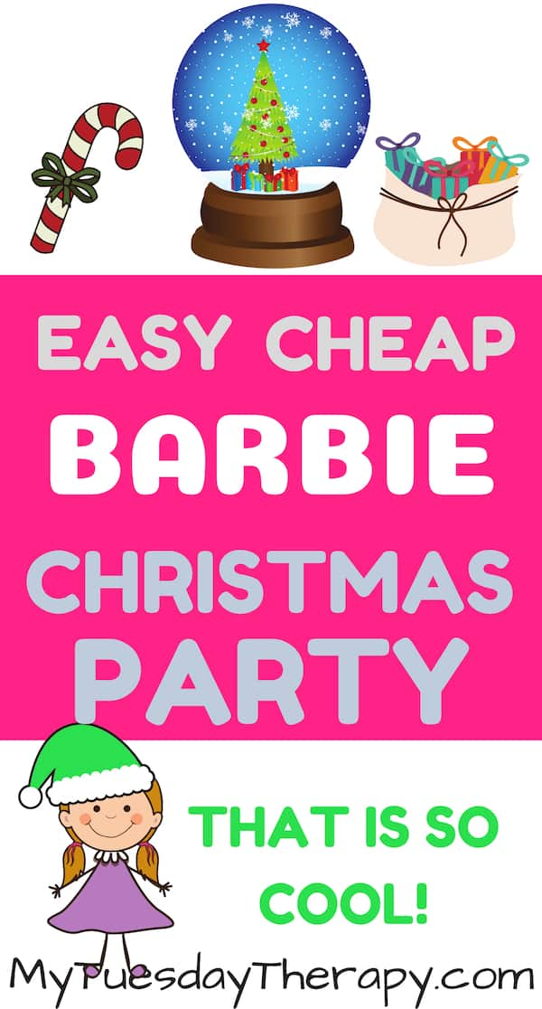 Christmas Movie Night. Host a fun-filled Barbie Christmas Party based on Barbie Christmas movies. Lots of fun Christmas party games, cheap, easy Christmas fun for kids.