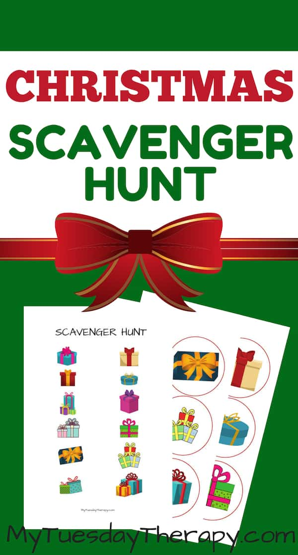 Christmas Scavenger Hunt Free Printable