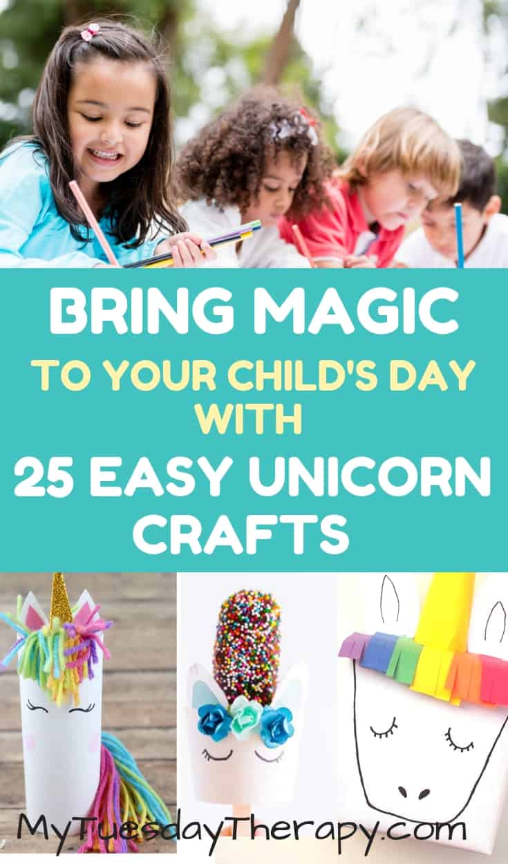 Bring a Little Magic To Your Child\'s Day With These Unicorn Crafts, Unicorn Coloring Pages, and Unicorn Slime Recipes! Your child will have hours of fun with these craft ideas for kids.