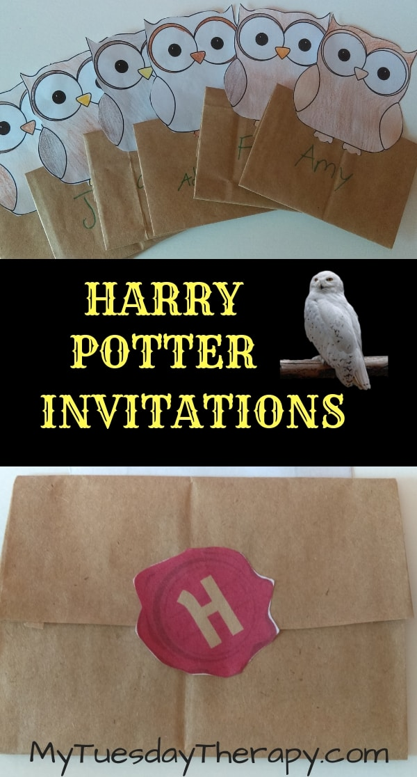 Harry Potter Invitations. Owl Mail.