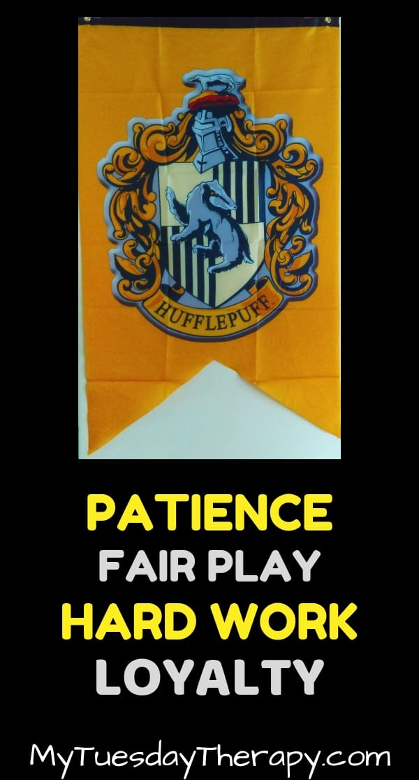 Hufflepuff Traits: Patience, fair play, hard work, loyalty