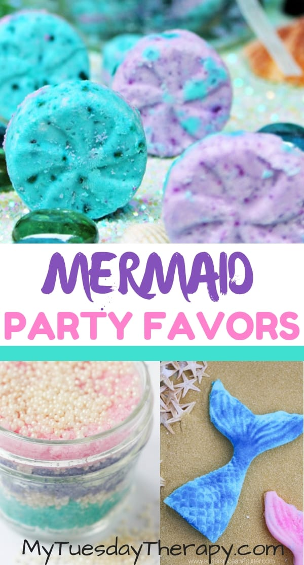 Mermaid Party Favors. Mermaid Bath Bomb, Mermaid Sugar Scrub, Mermaid Soap
