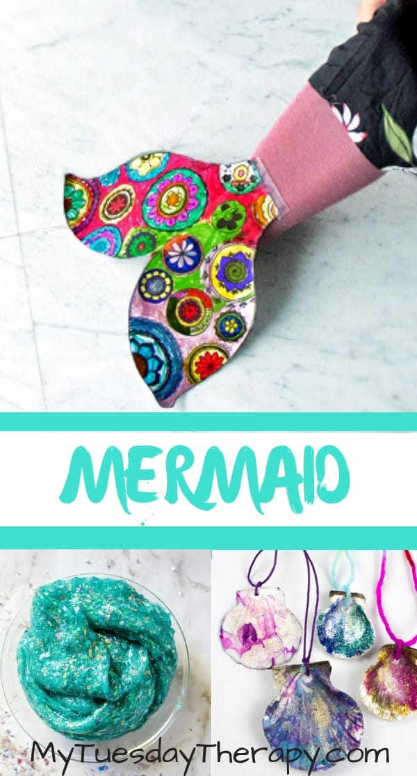 Mermaid Games and Activities. Mermaid Tail Craft. Mermaid Slime. Seashell Necklace DIY
