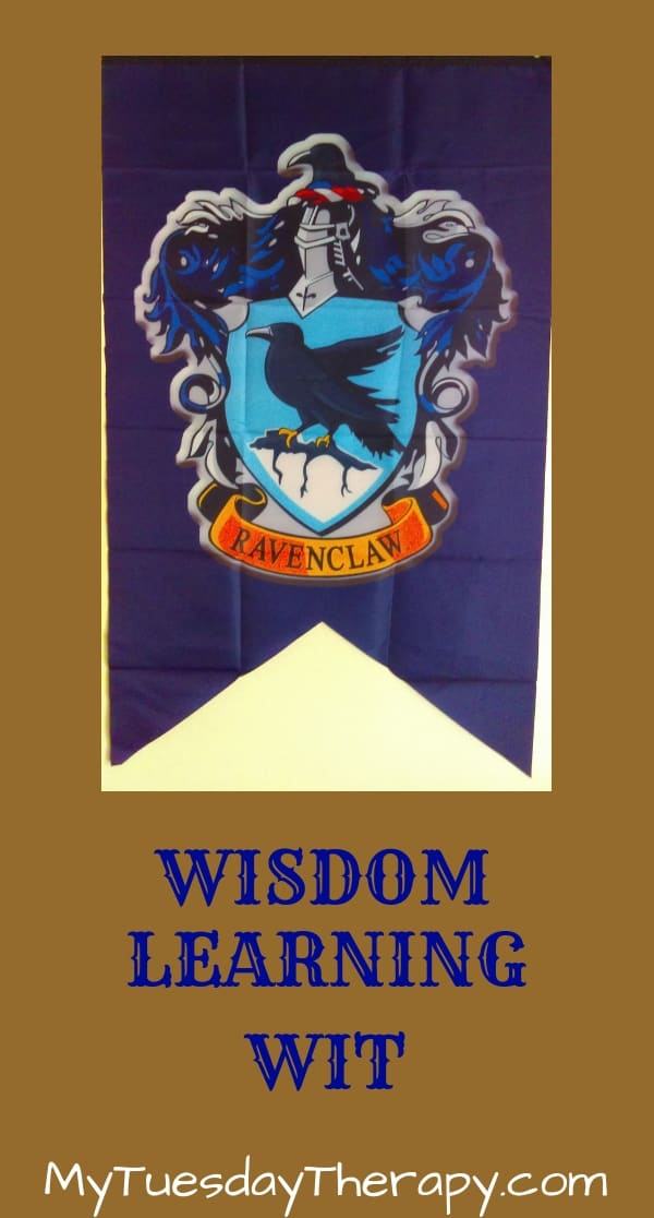 Ravenclaw Traits: Wisdom, Learning, Wit. Harry Potter Party Ideas.