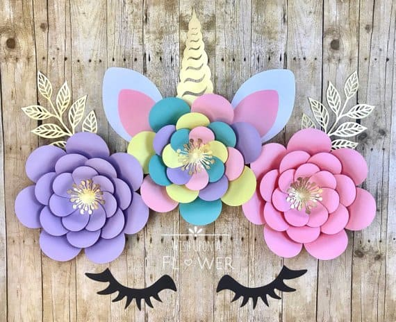 Unicorn Paper Flower Arrangement