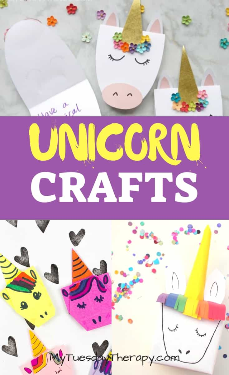 Unicorn Paper Crafts. Unicorn Card. Unicorn Origami. Unicorn Gift Box.