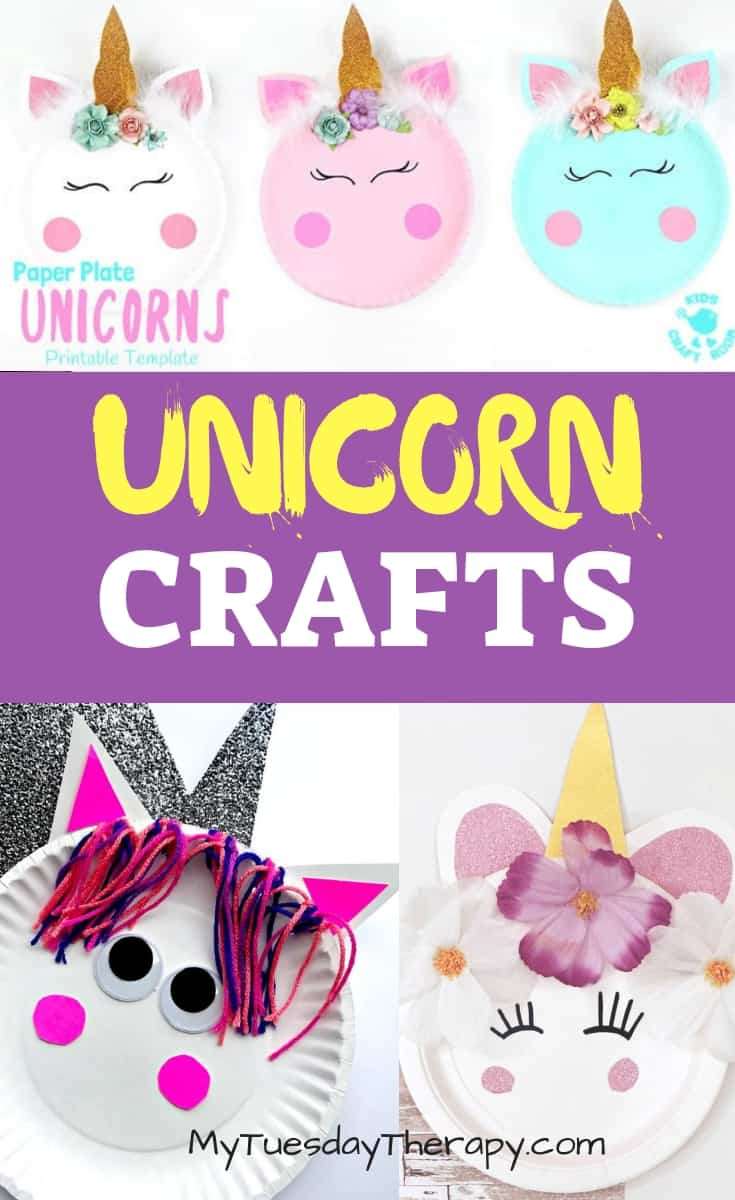 Unicorn Paper Plate Crafts