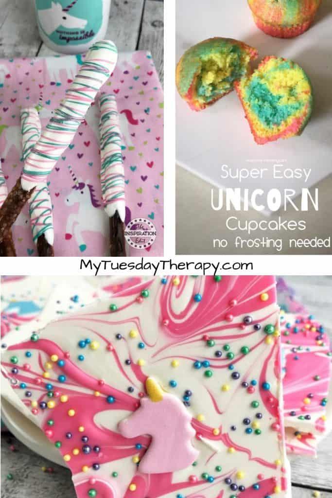 Unicorn Desserts. Unicorn Pretzels. Unicorn Cupcakes. Unicorn Bark Candy
