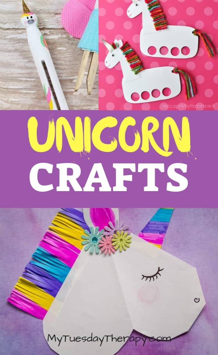Unicorn Crafts. Unicorn Puppets DIY.