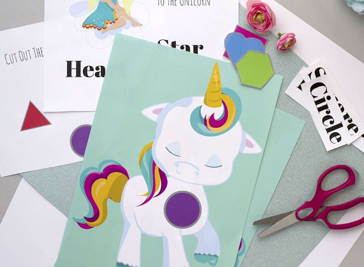 Unicorn Shapes Printable