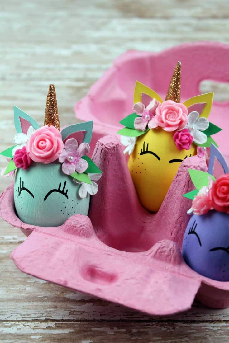 Whimsical Unicorn Egg. An adorable unicorn craft.