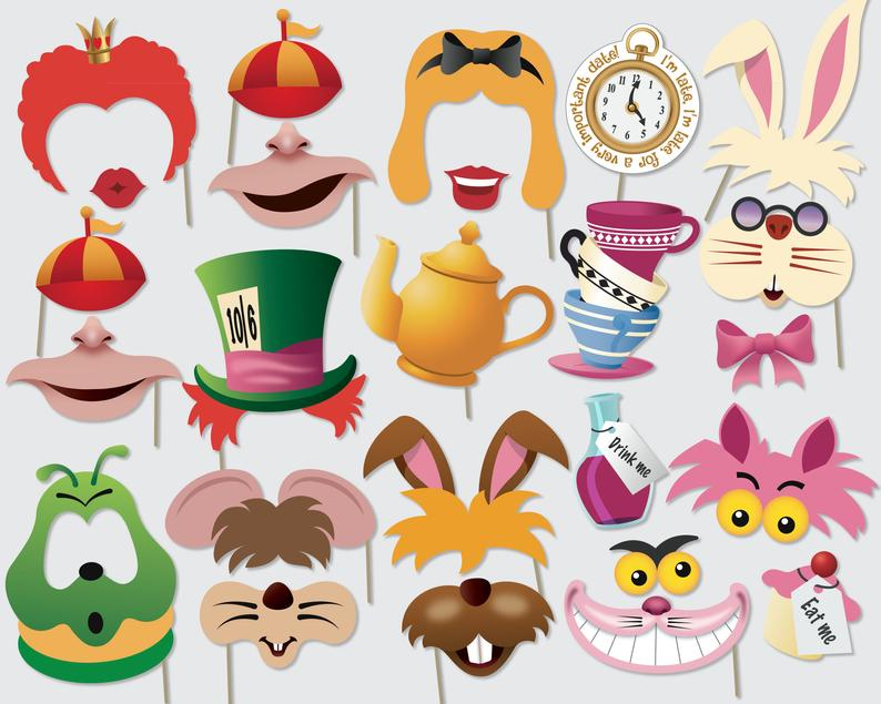 Alice In Wonderland Photo Booth Props (ReasonsTBC)