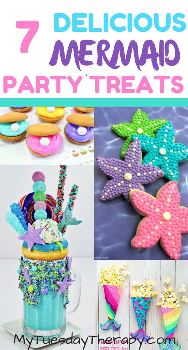 Mermaid Cookies. Mermaid Shake. Mermaid Popcorn. Clam Cookies.