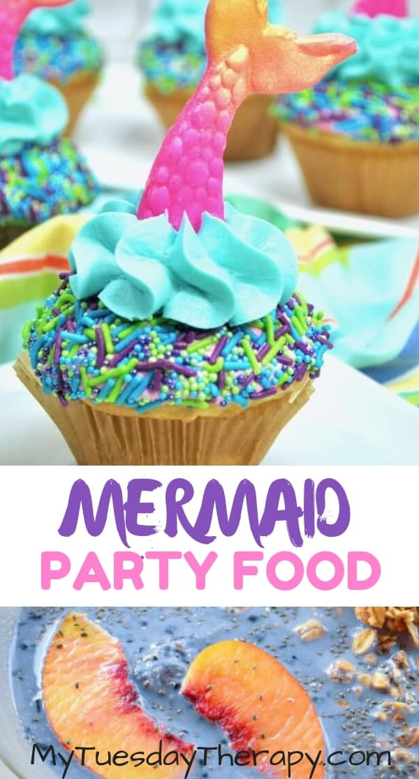 Mermaid Cupcake. Mermaid Smoothie.
