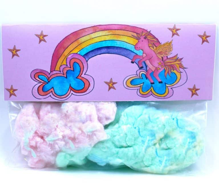 Unicorn Party Favor. A Treat Bag Ful of Cotton Candy.