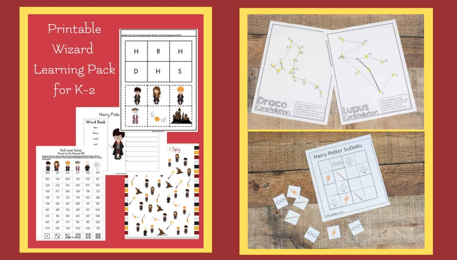 Harry Potter Printable Learning Activities