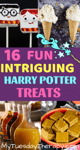 Harry Potter Party Food. From Butterbeer Fudge to Marhsmallow Characters.