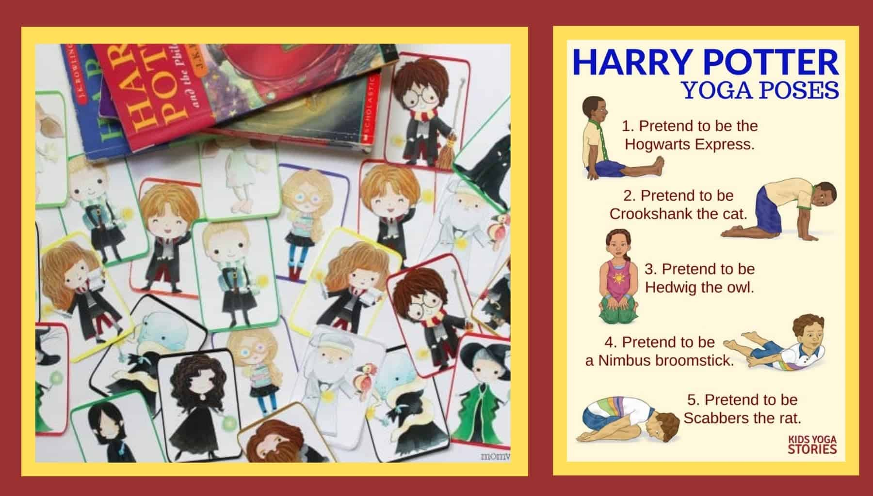 Harry Potter Games and Activities: Harry Potter Memory Game and Yoga Poses for Kids.