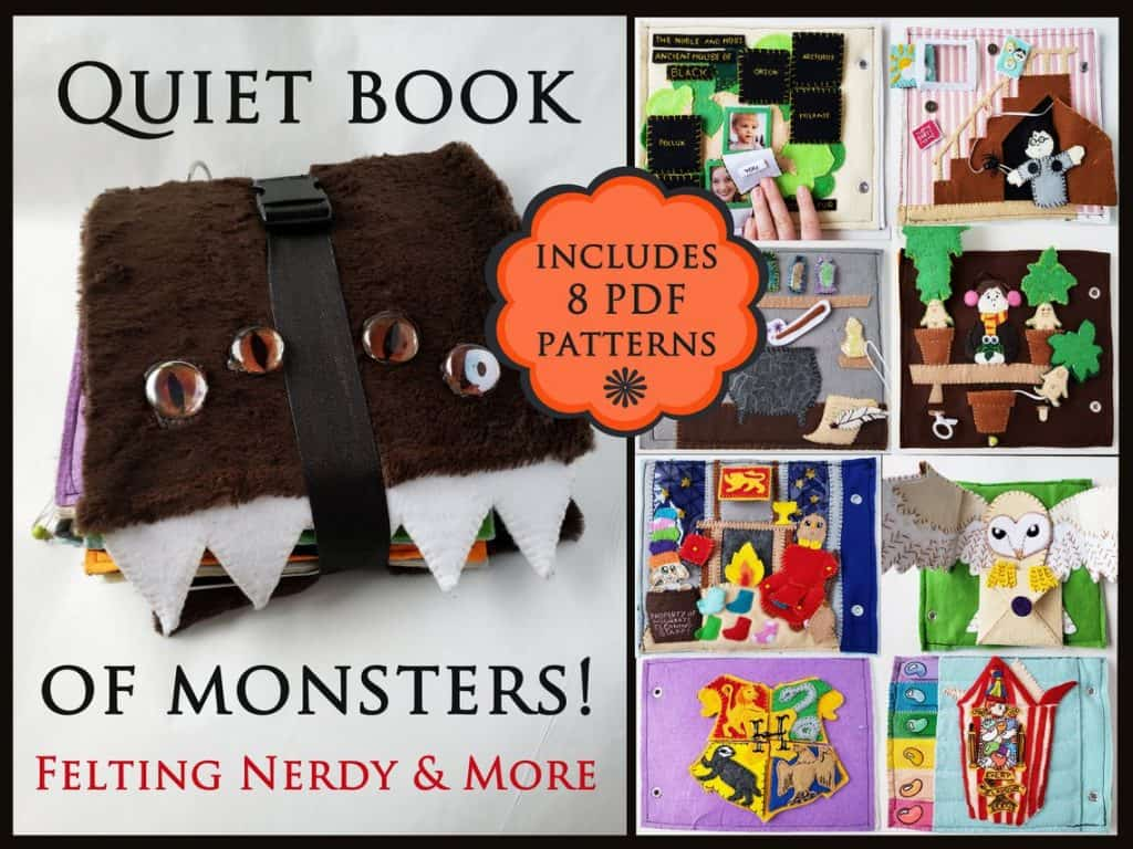 Quiet Book for Harry Potter Fans (felting nerdy and more)