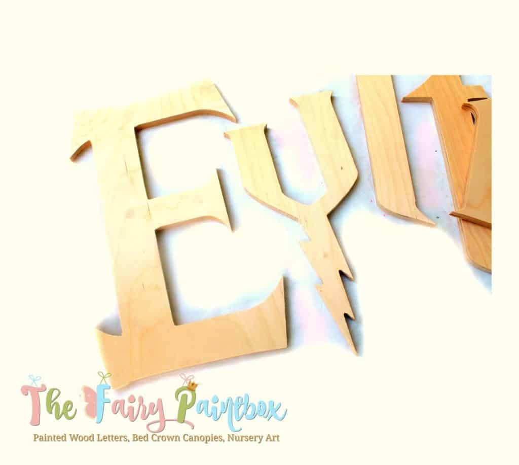 Harry Potter Craft. (the fairy paintbox) Wooden Letter Ideas