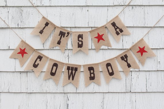 Cowboy Baby Shower Banner (ichabodsimagination)