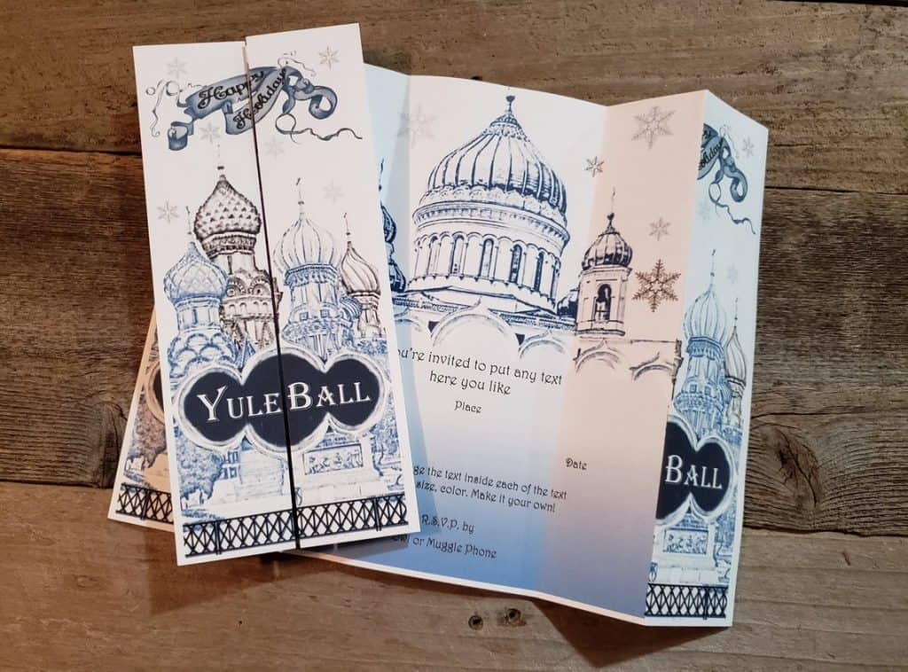 Harry Potter Yule Ball Invitations (mianne market)