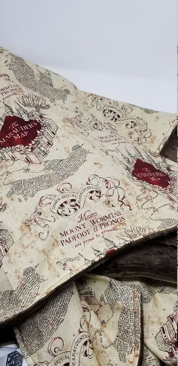 Marauder's Map Blanket (Image Baby Booger Bear)
