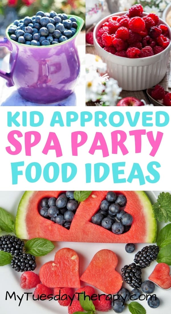 Spa Party Food Ideas. Spa party for tween.