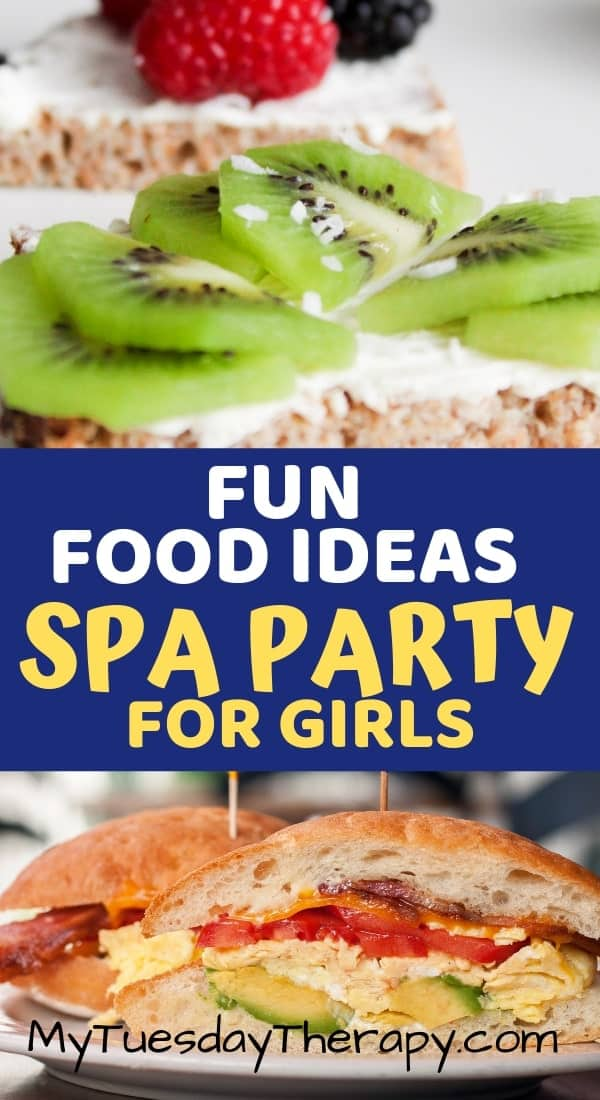 Spa Party Food Ideas. Sandwiches for kids.