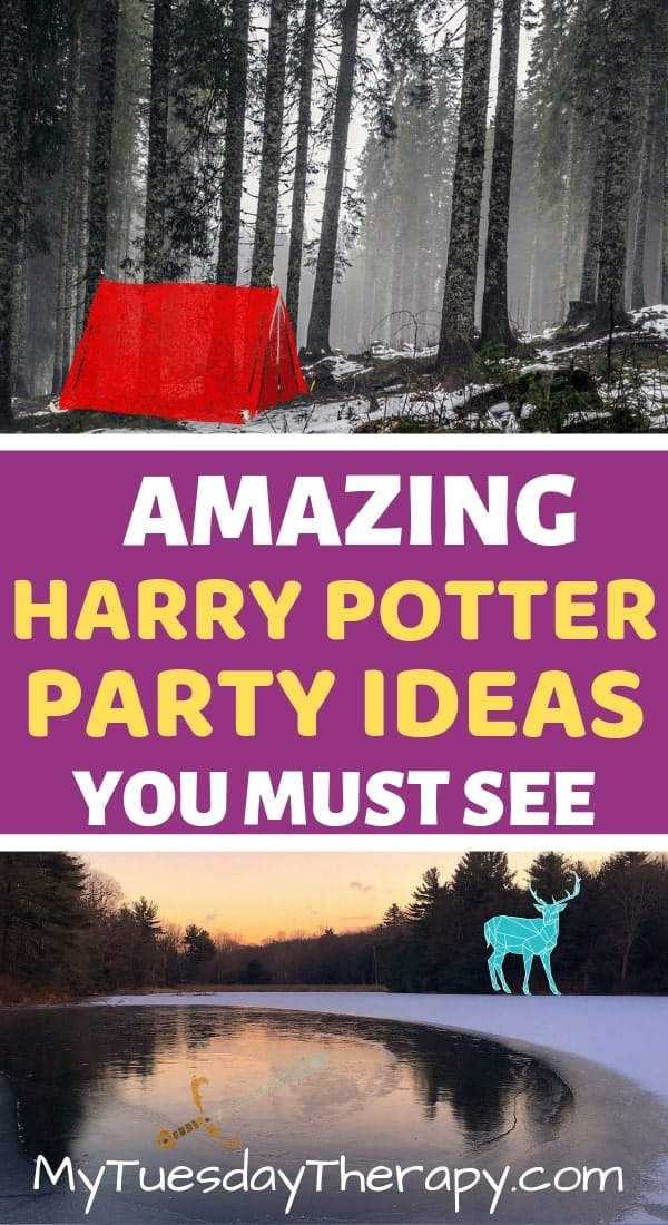 Forest of Dean. Harry Potter patronus. Gryffindor sword.