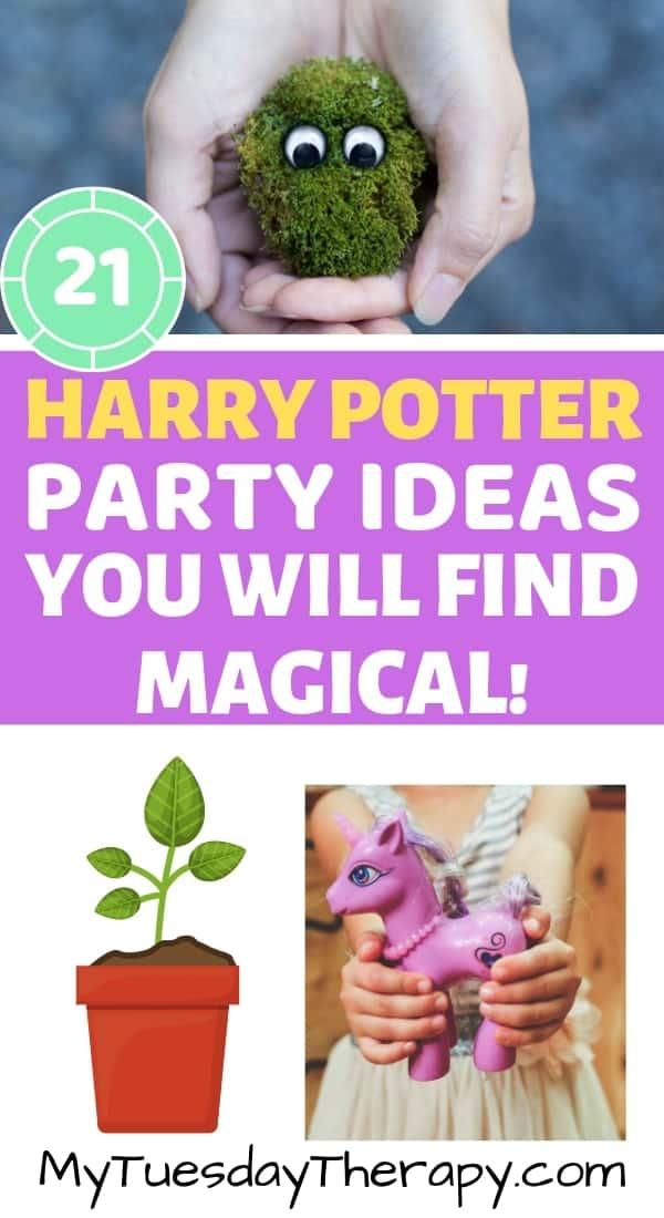 Harry Potter Herbology Class. Magical Creatures Class.