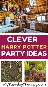 Weasley's House. Harry Potter party ideas.
